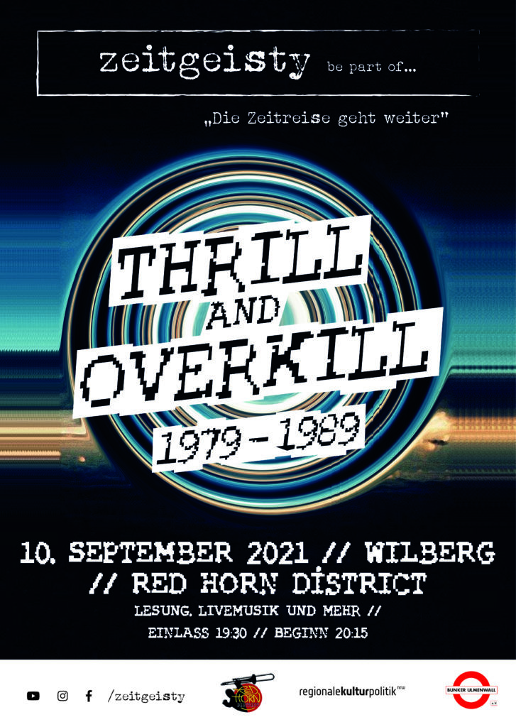 zeitgeisty. be part of THRILL and OVERKILL 1979-1989