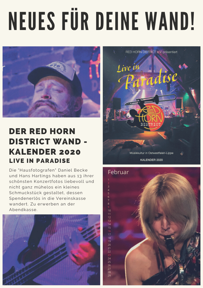 Wandkalender 2020 - Red Horn District