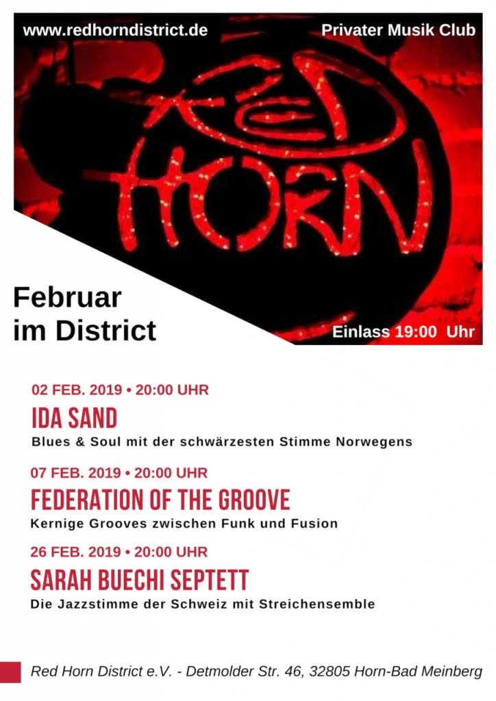 Februar im Distirict - Plakat - Red Horn District - Poster - 02-19