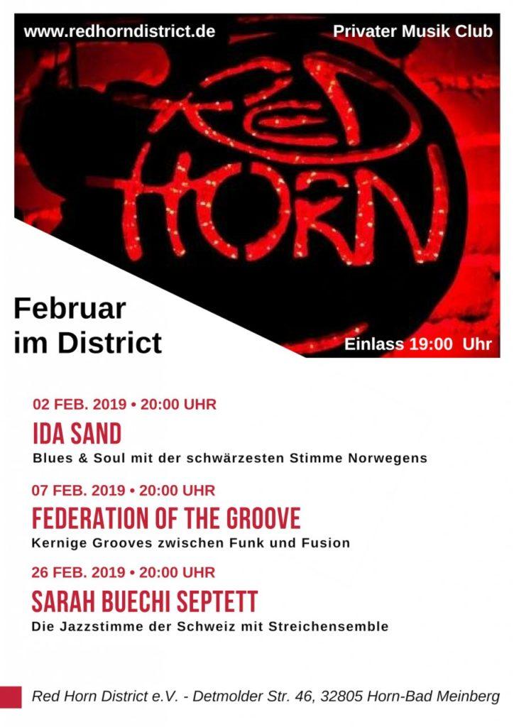 Februar im Distirict - Plakat - Red Horn District - Poster - 02-19