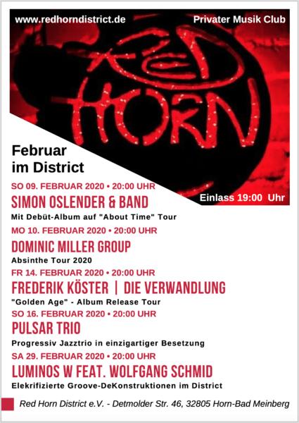 Red Horn District Programm - Februar 2020
