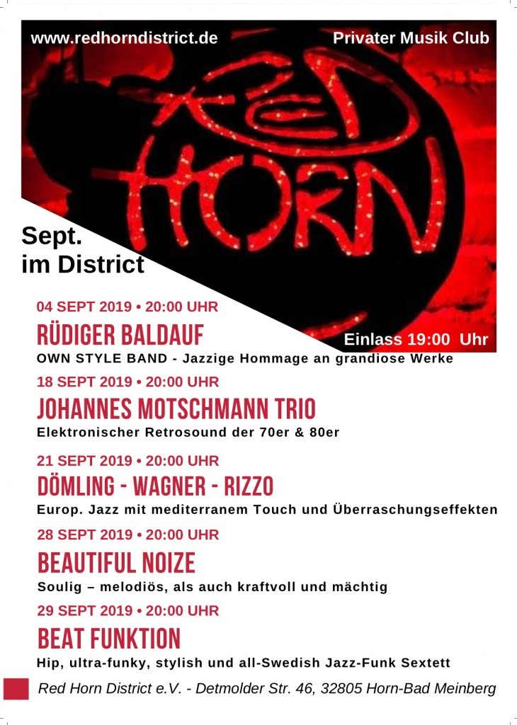 Programm Red Horn District September 2019