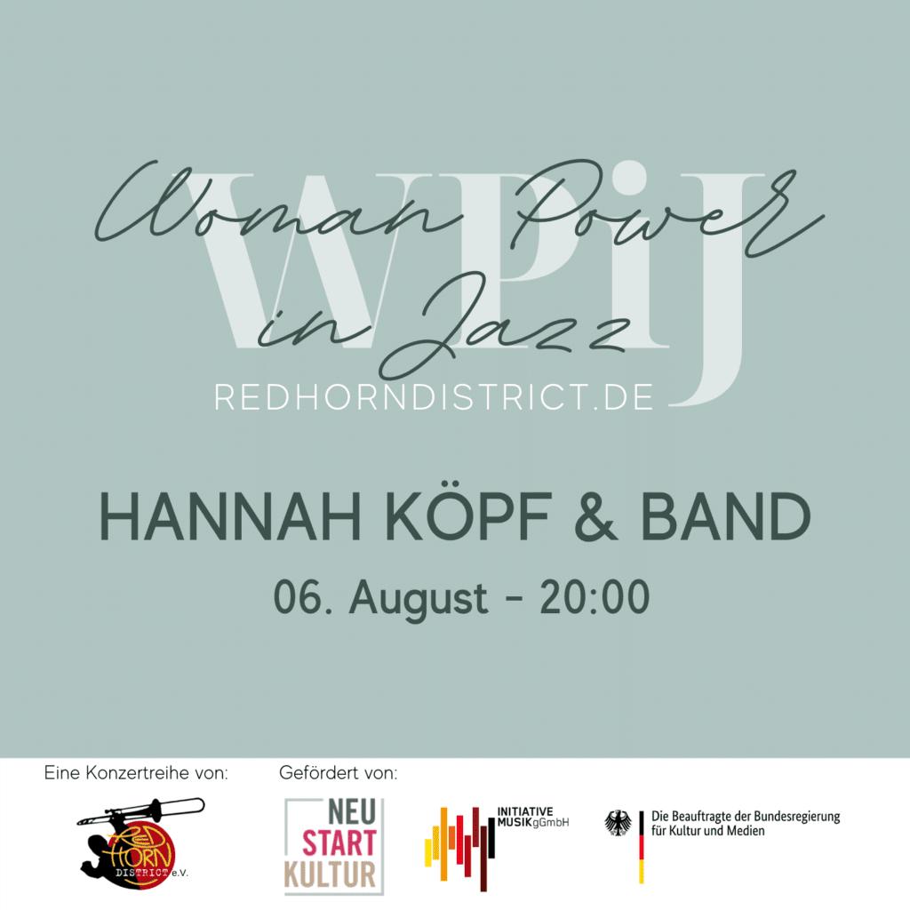 Freitag, 06. August 2021: HANNAH KÖPF & Band
