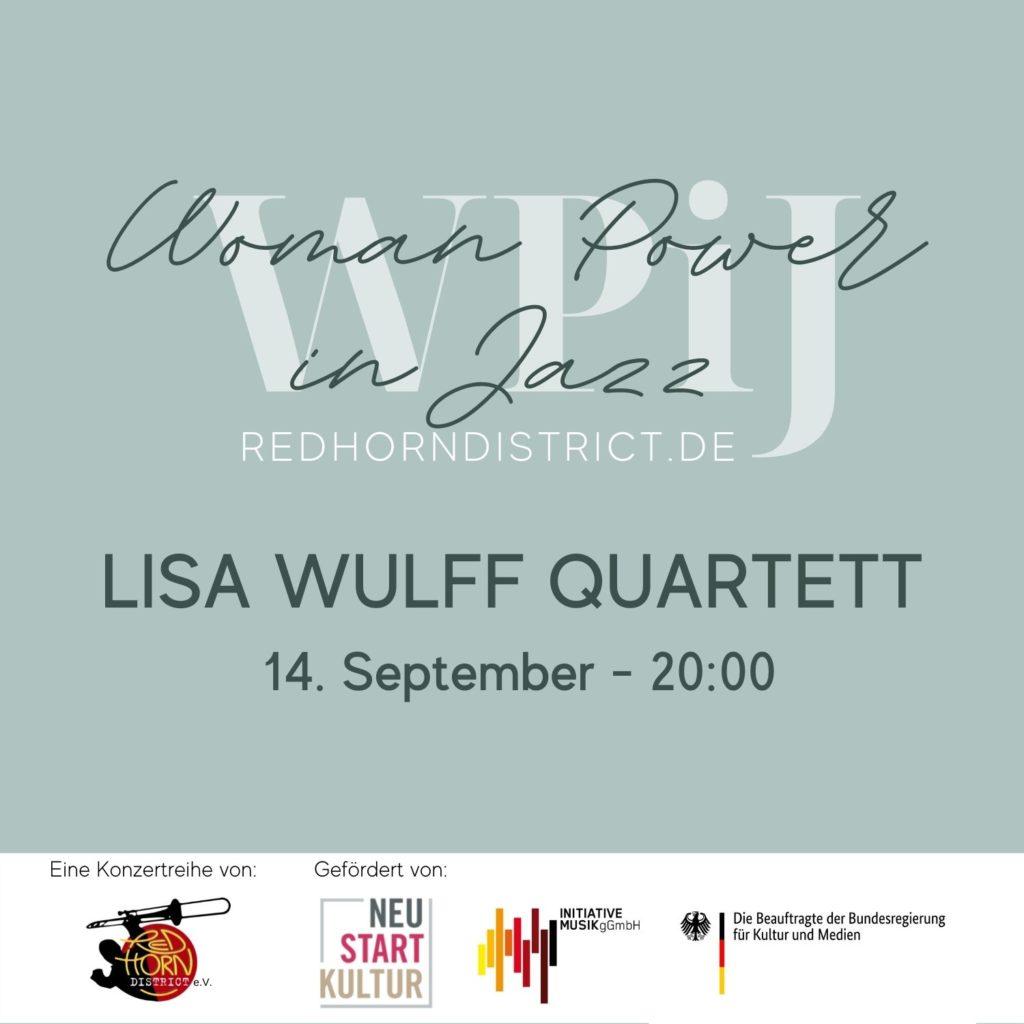 Dienstag, 14. Sept. 2021: LISA WULFF QUARTETT