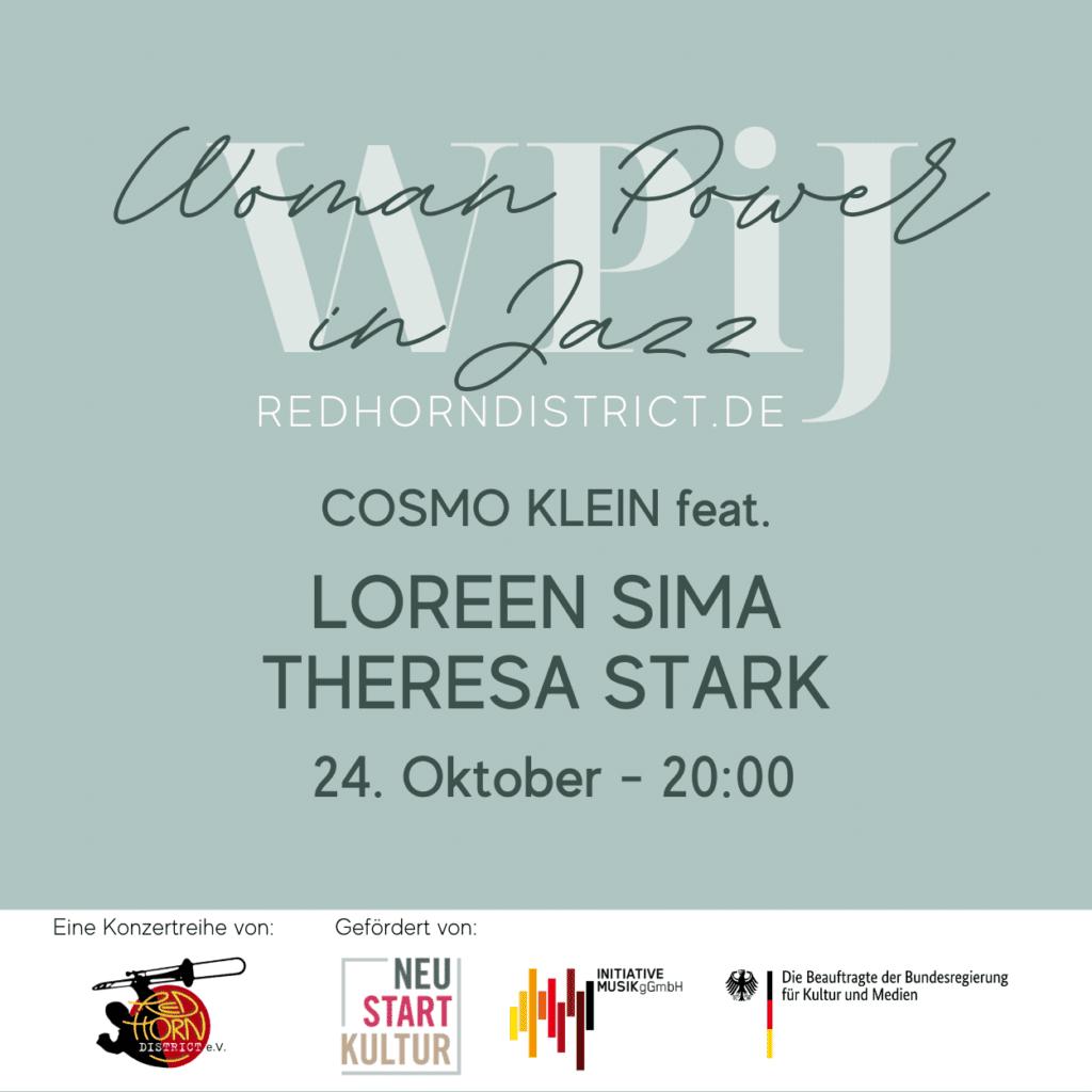 Sonntag 24. Okt. 2021: COSMO KLEIN feat. LOREEN SIMA & THERESA STARK