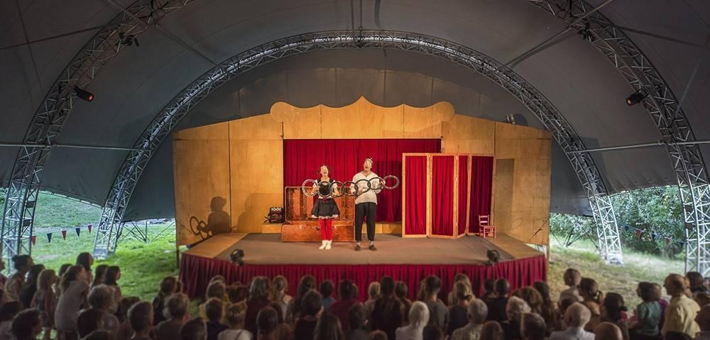 Pas de Deux - Zelt und Bühne